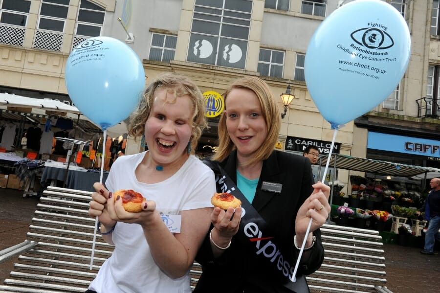 Anna Lodwick gets involved with a bake sale at her local VE store
