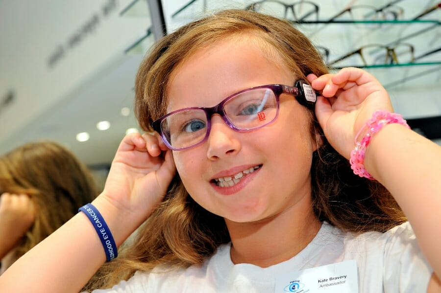 Childhood Eye Cancer Trust ambassador Kate Bravery