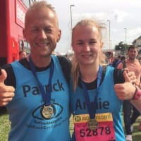Photo of CHECT chief executive Patrick and his daughter Annie running for charity
