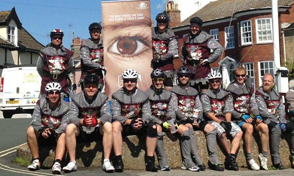 CHECT photo - fundraisers on a cycling challenge