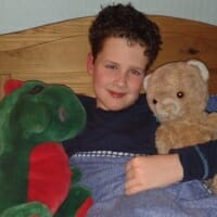CHECT photo - Edward with Dino and Teddy