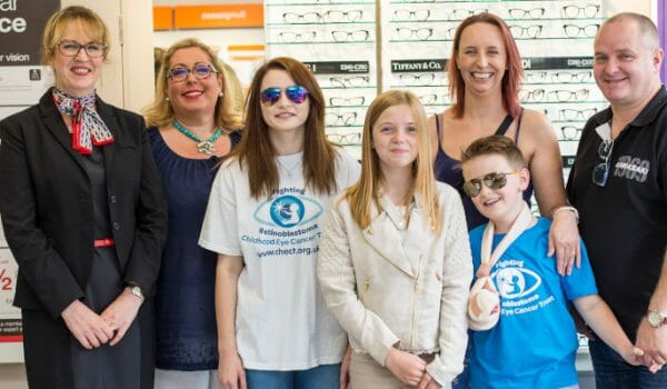 Young eye cancer survivors are VIPs in Taunton