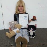 CHECT photo - Erin receiving her award