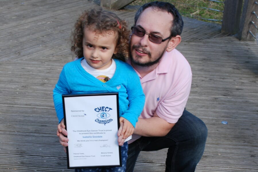 CHECT photo - Isabella and her dad