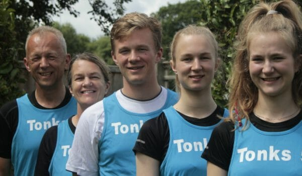 Family of 5 in Great North Run