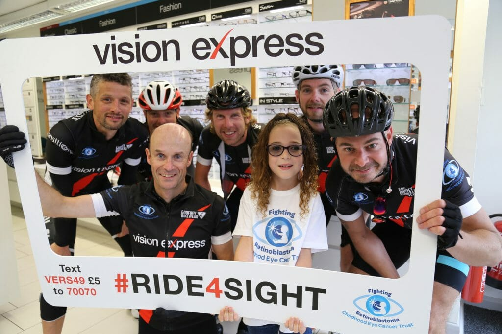 CHECT Photo - Ride 4 Sight participants with CHECT ambassador Katie