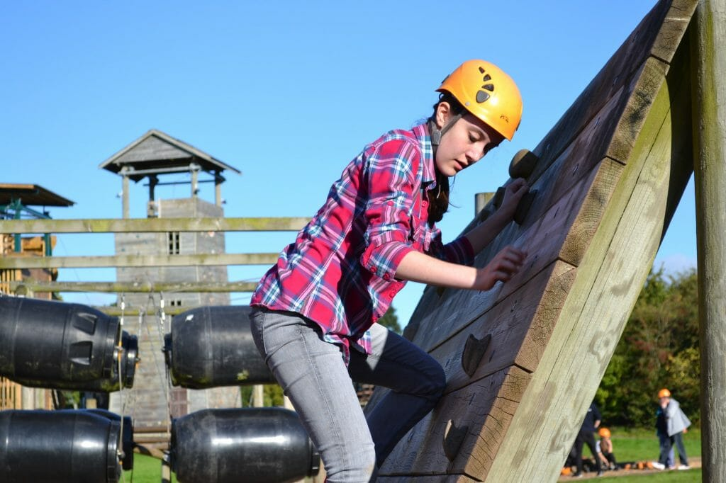 CHECT photo - teenager on the residential weekend