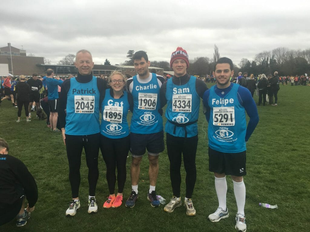 CHECT Photo - runners at the Hampton Court Half Marathon in 2016