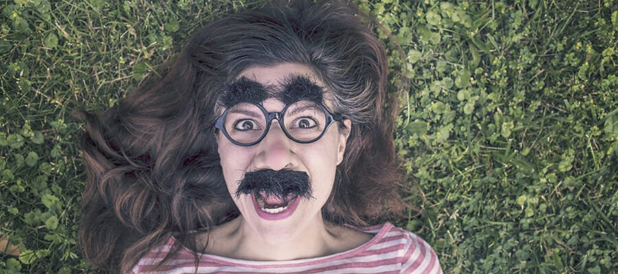 CHECT photo - a woman wearing crazy glasses