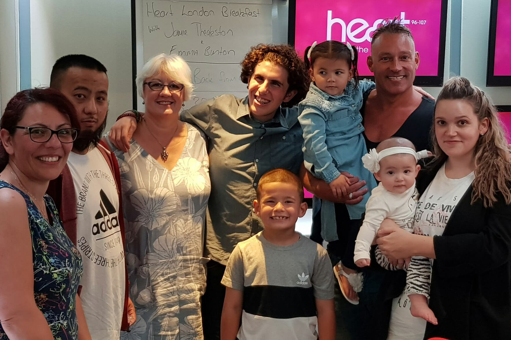 CHECT photo - Staff and members of the Childhood Eye Cancer Trust at the Heart FM studios