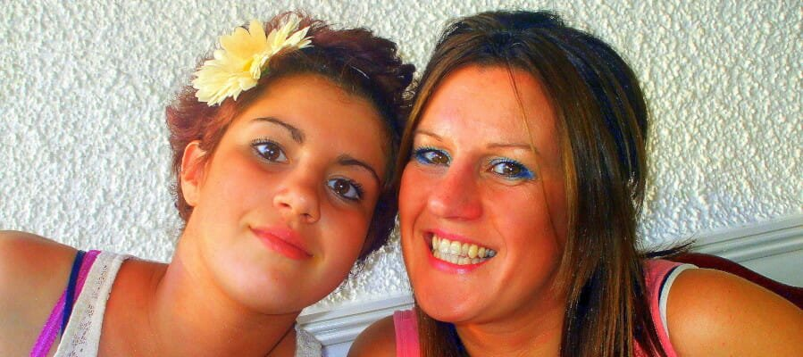 CHECT photo - Olivia and her mum Sarah, taken in 2010