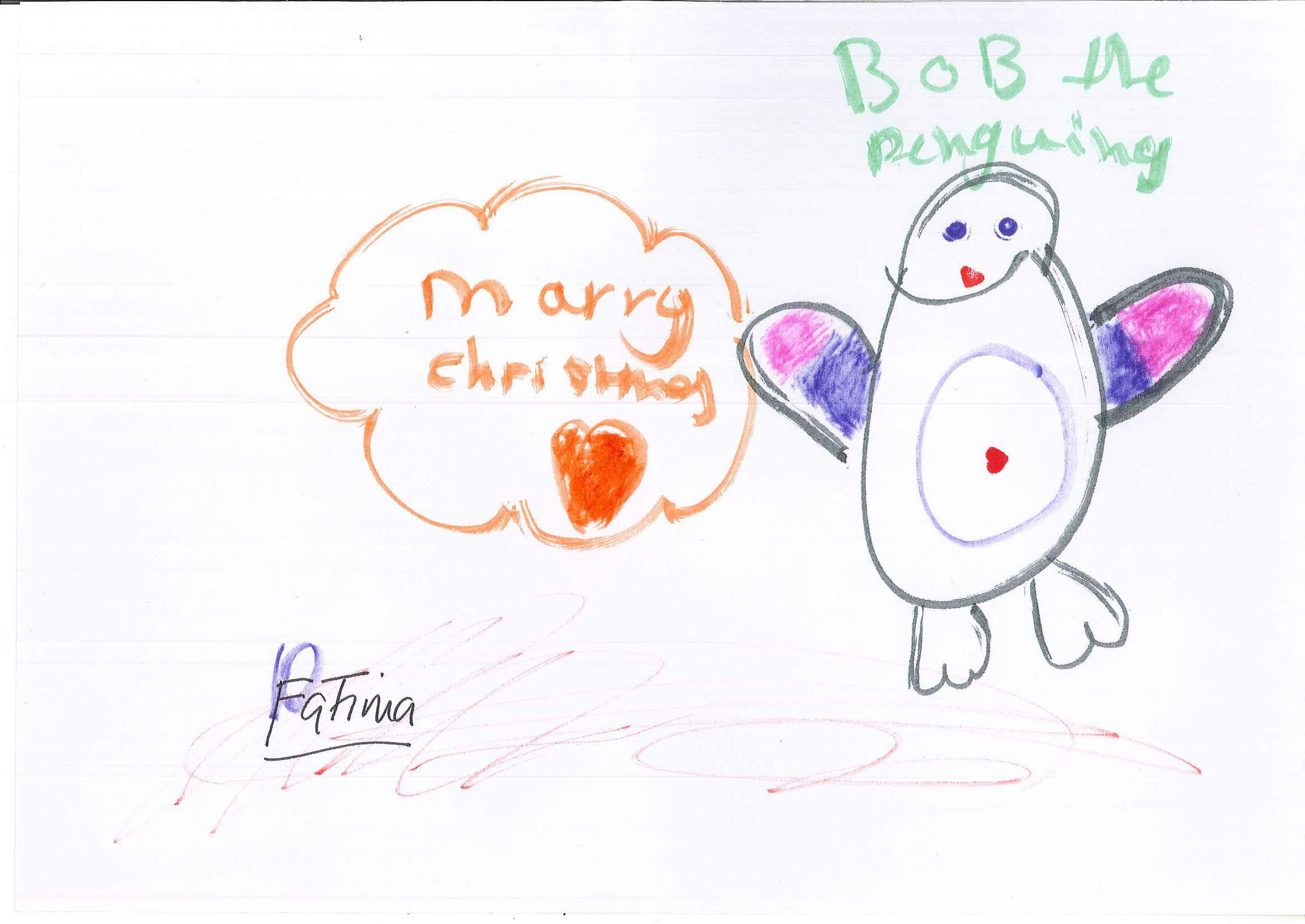 CHECT Christmas card competition - Fatima