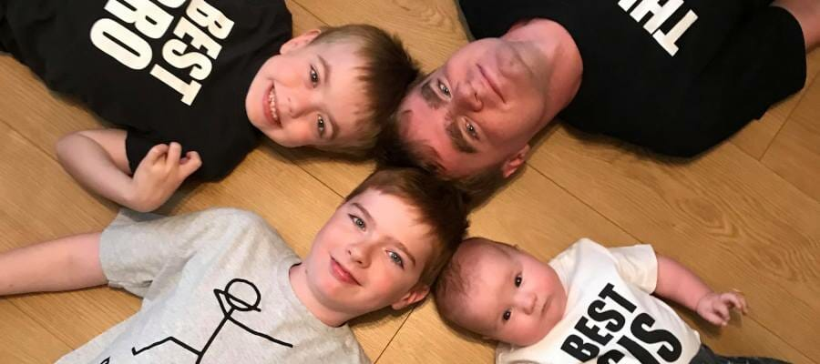 Photo of Angie Campbell's four children