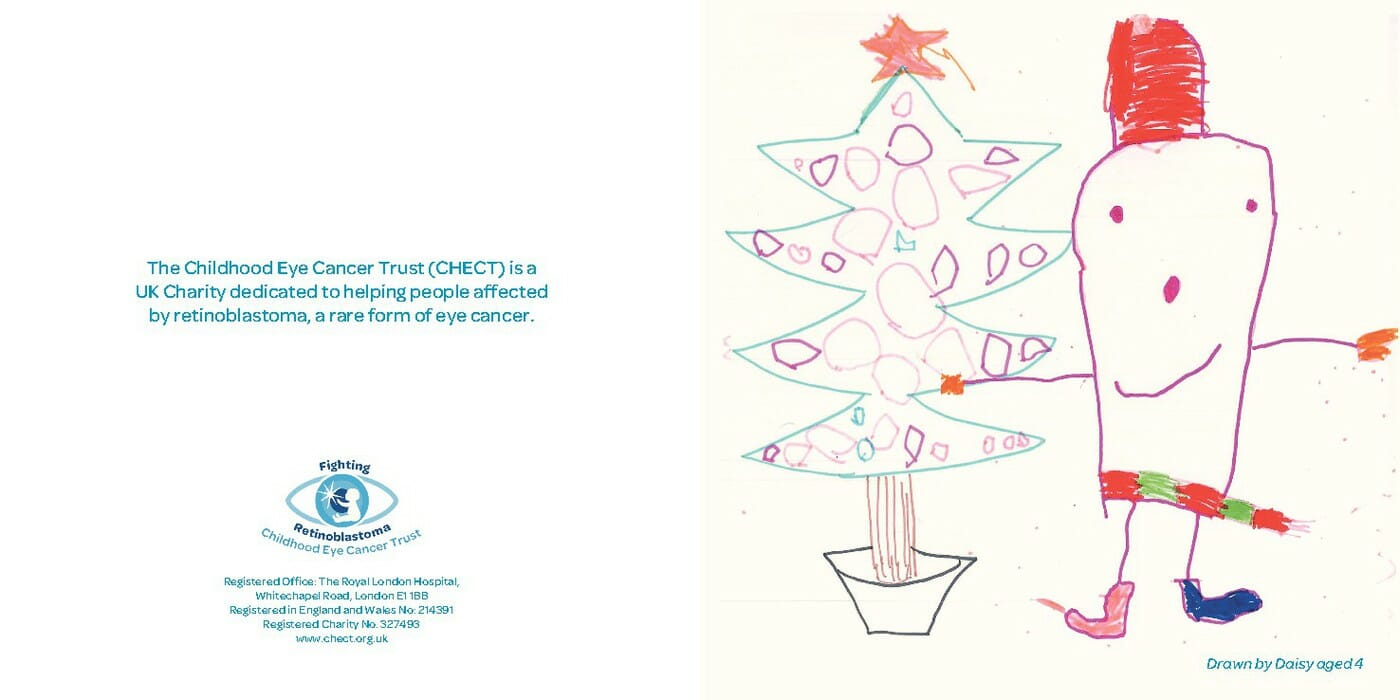 Christmas e-Card - a Christmas tree with a snowman standing next to it