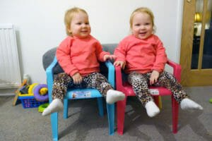 Identical twins Indiana and Aurelia