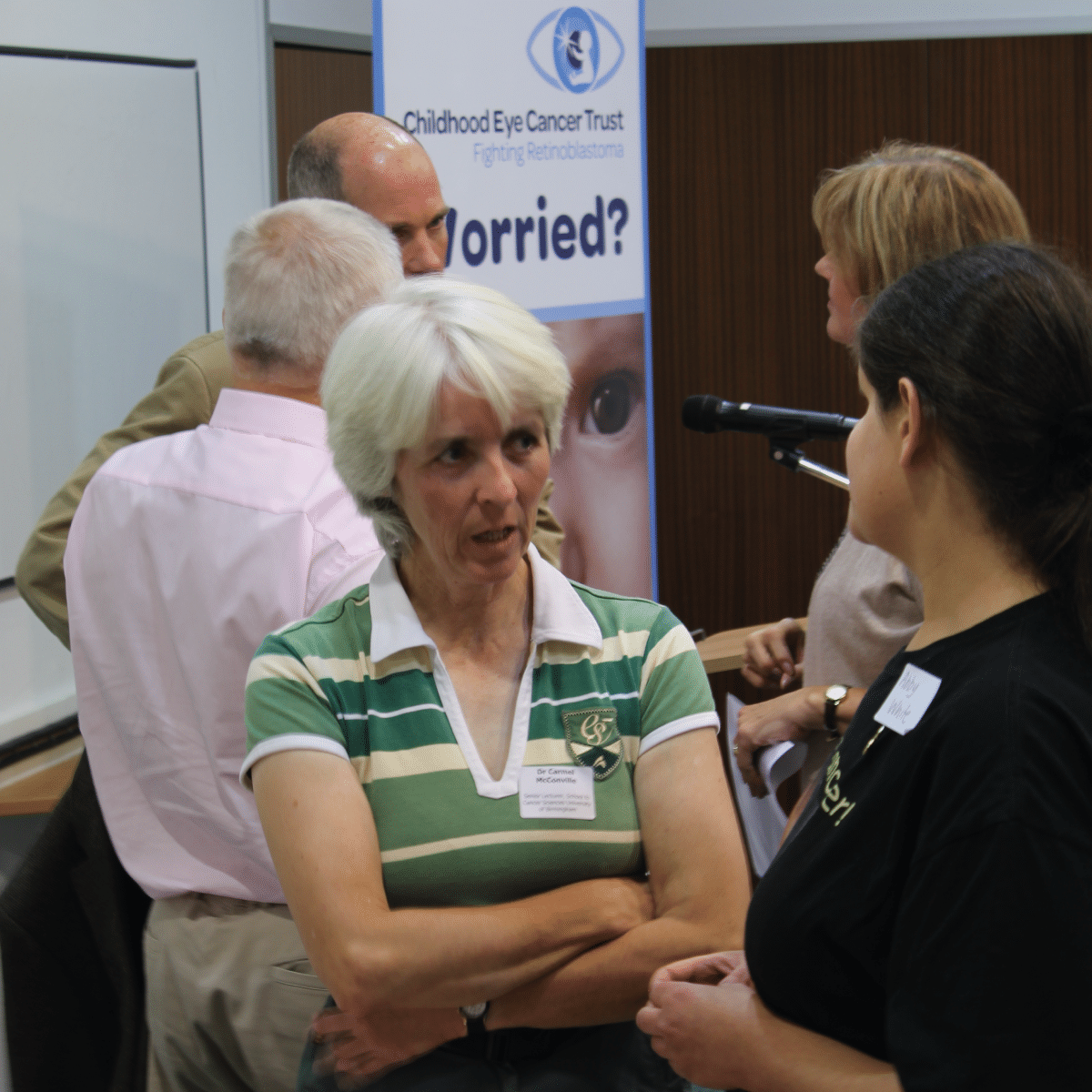 Dr Carmel McConville at a CHECT event