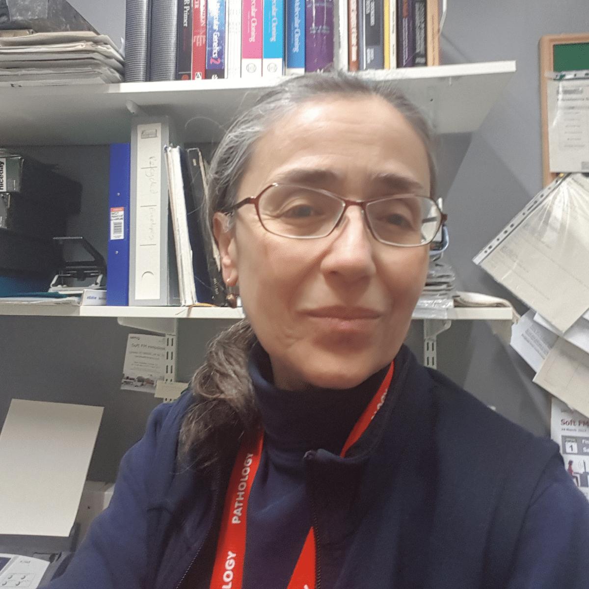 Dr Zerrin Onadim in her office