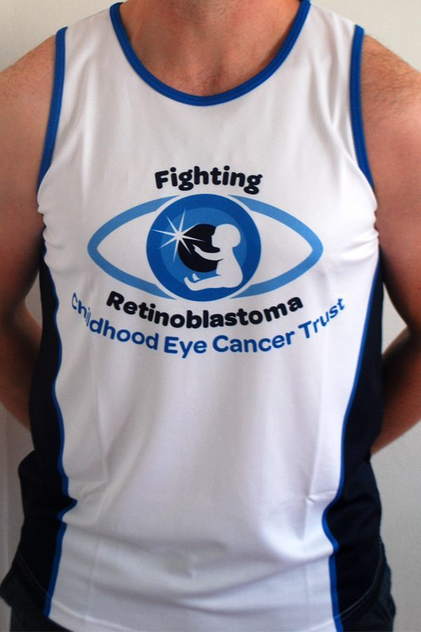 Front view of the CHECT running vest