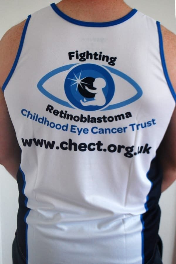 Back of the CHECT running vest
