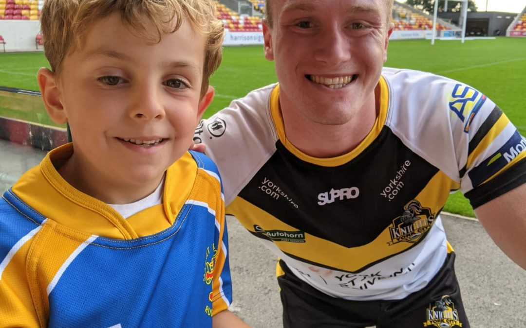Charlie meets his 'rugby twin'