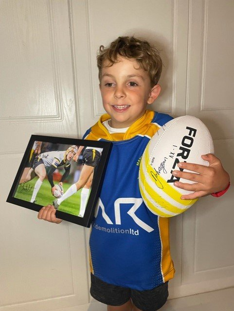 Charlie with his rugby ball