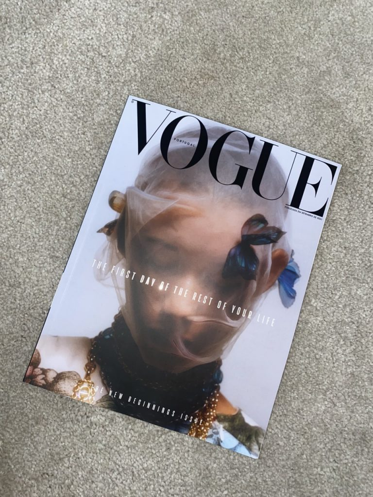A copy of Vogue featuring Olivia Deane